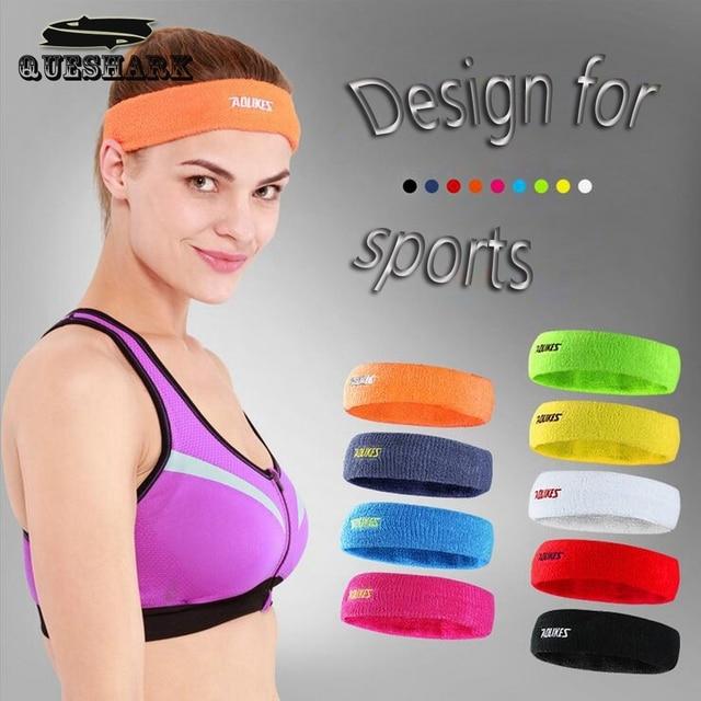 1 Pcs Outdoor Sports Elastic Head Sweatband Absorbent Yoga Hairband Running Fitness Cotton Headband Anti