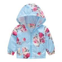 6d4d6f89a4268 Enfant Enfants Bébé Filles Garçons Floral Fleurs Printemps pull à capuche  Veste hauts manteau filles vêtements