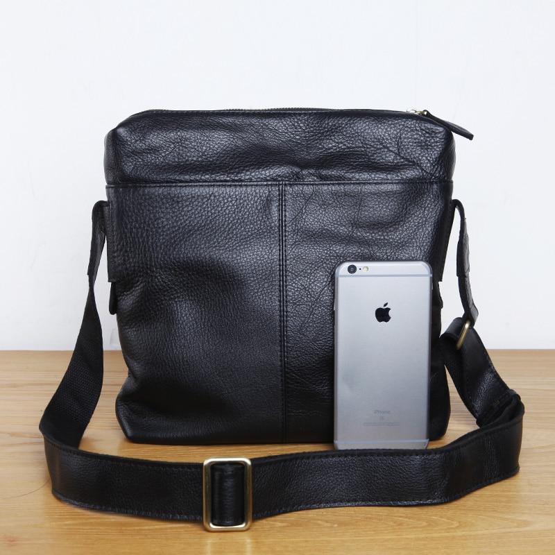 ФОТО LAN men's leather  single shoulder bag fashion brand messenger bag first layer leisure cow leather men's bag