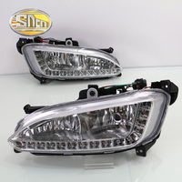 Only For Russian LED Daytime Running Light LED DRL For Hyundai Santa Fe 2013 2014 Free