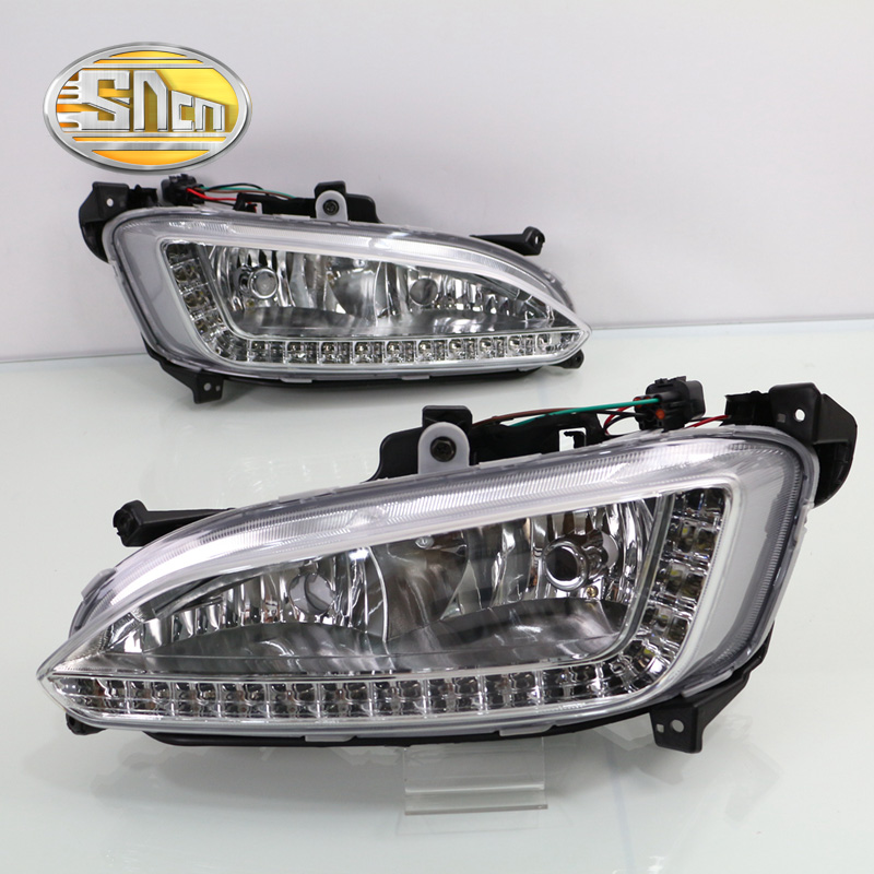 For Hyundai Santa Fe IX45 2013 2014 2015,ABS Waterproof Super Brightness 30W 12V Car DRL LED Daytime Running Light SNCN seintex 85749 hyundai santa fe 2013 black