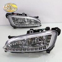 Only For Russian LED Daytime Running Light LED DRL For Hyundai Santa Fe 2013 2014 Free
