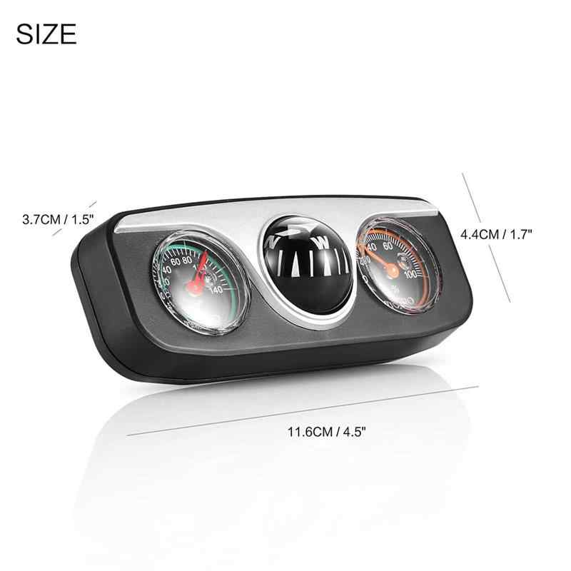 Onever 3 in1 Guide Ball Built-in Auto Compass Thermometer Hygrometer Decoration Ornaments Car Interior Accessories