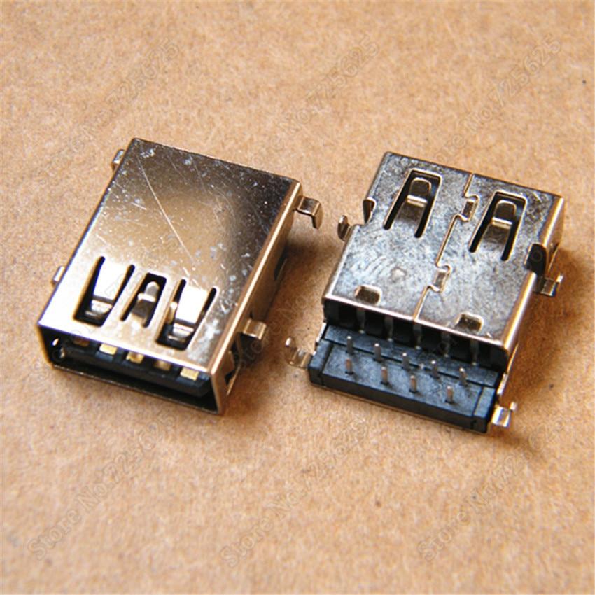 3.0 USB Jack Socket Female Port for DELL INSPIRON 14 5439 5470 V5460 V5470  Data Jack Connector 2pcs 100pcs for laptop dell latitude e5540 usb 3 0 jack socket port connector 9 pin new
