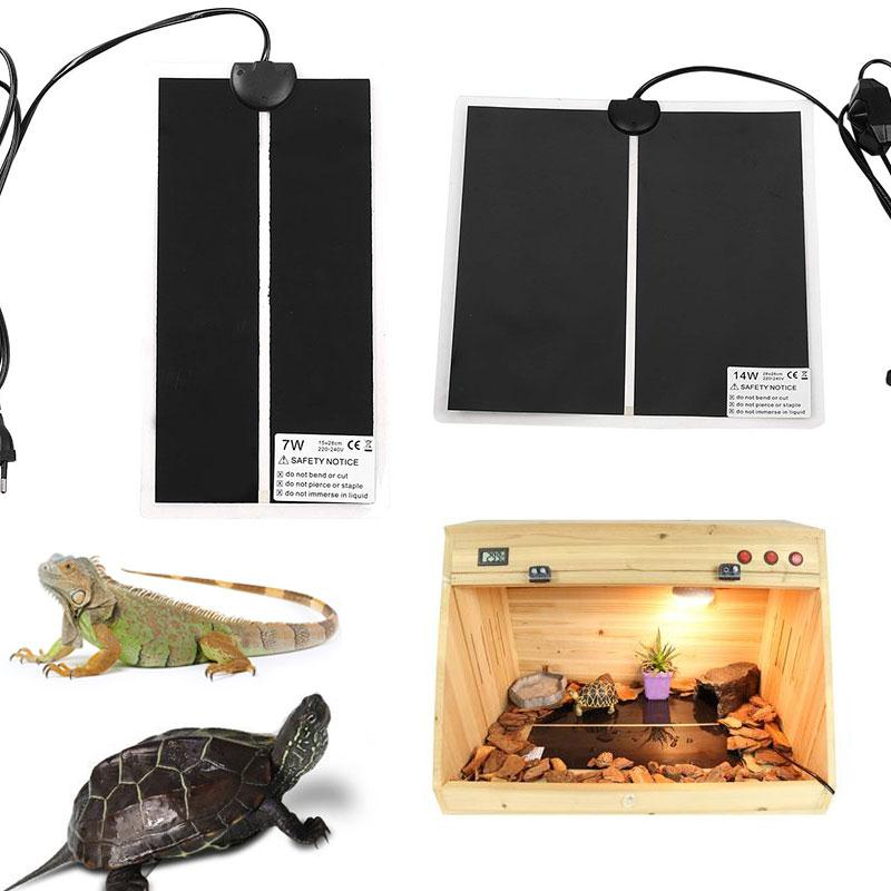 Pet Heat Mat Reptile Brooder Heating Warm Heater Pad Brew Eu/us Plug 5/7/14/20w Drop Shipping