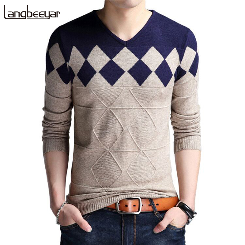 Hot Selling New Fashion Brand Sweater Man Pullover Slim Fit Jumpers Knitwear Woolen Winter Korean Style Casual Clothing Men