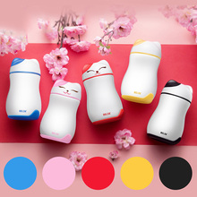 Cute Cartoon cats stainless steel vacuum flasks thermoses for children coffee creative mini portable travel mug