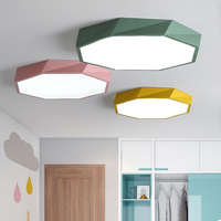 2018 Macaron color Ceiling LED chandelier Round Ultra thin chandelier lighting for bed Children's room LEDlamp lamparas de techo