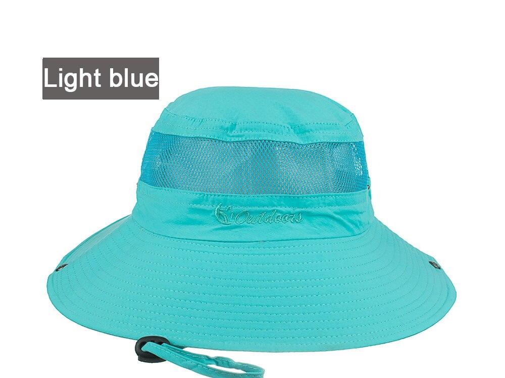 c2d8644d027 AKIZON Summer Bucket Hats Fishing Wide Brim Hat UV Protection Cap ...