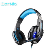 KOTION EACH G9000 3.5mm Gaming Headphone Headset Earphone Headband with Microphone LED Light for PC Game ps4 With retail box