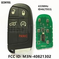 QCONTROL Smart Key for DODGE/Chrysler/JEEP 433MHz ID46 Chip Proximity Comfort access Keyless go FCC ID M3N 40821302