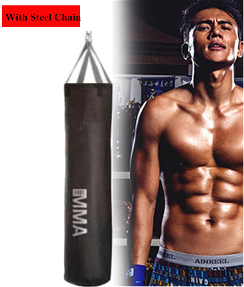 все цены на Empty Kick Boxing Bag 115cm/162cm/178cm Training Fitness Punching Bag Saco De Pancada Boxeo Hook Hanging MMA Fight Sandbag