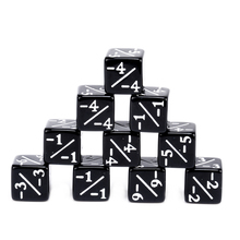 10pcs/set Black Dice Counters Negative -1/-1 For Magic The Gathering And MTG Role Playing Funny Family Party Game Dices