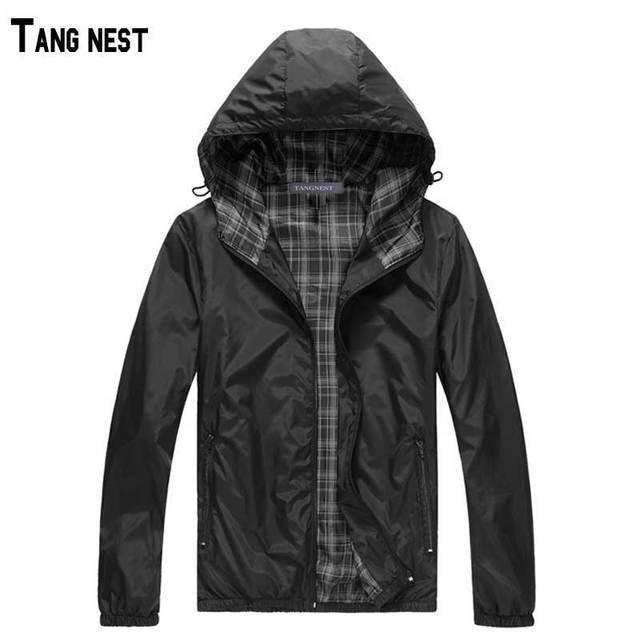TANGNEST Men Jackets 2017 New Hot Sale Man Hooded Thin Jackets Male Hoodie Thin Windbreaker Lightweight M-3XL MWJ093