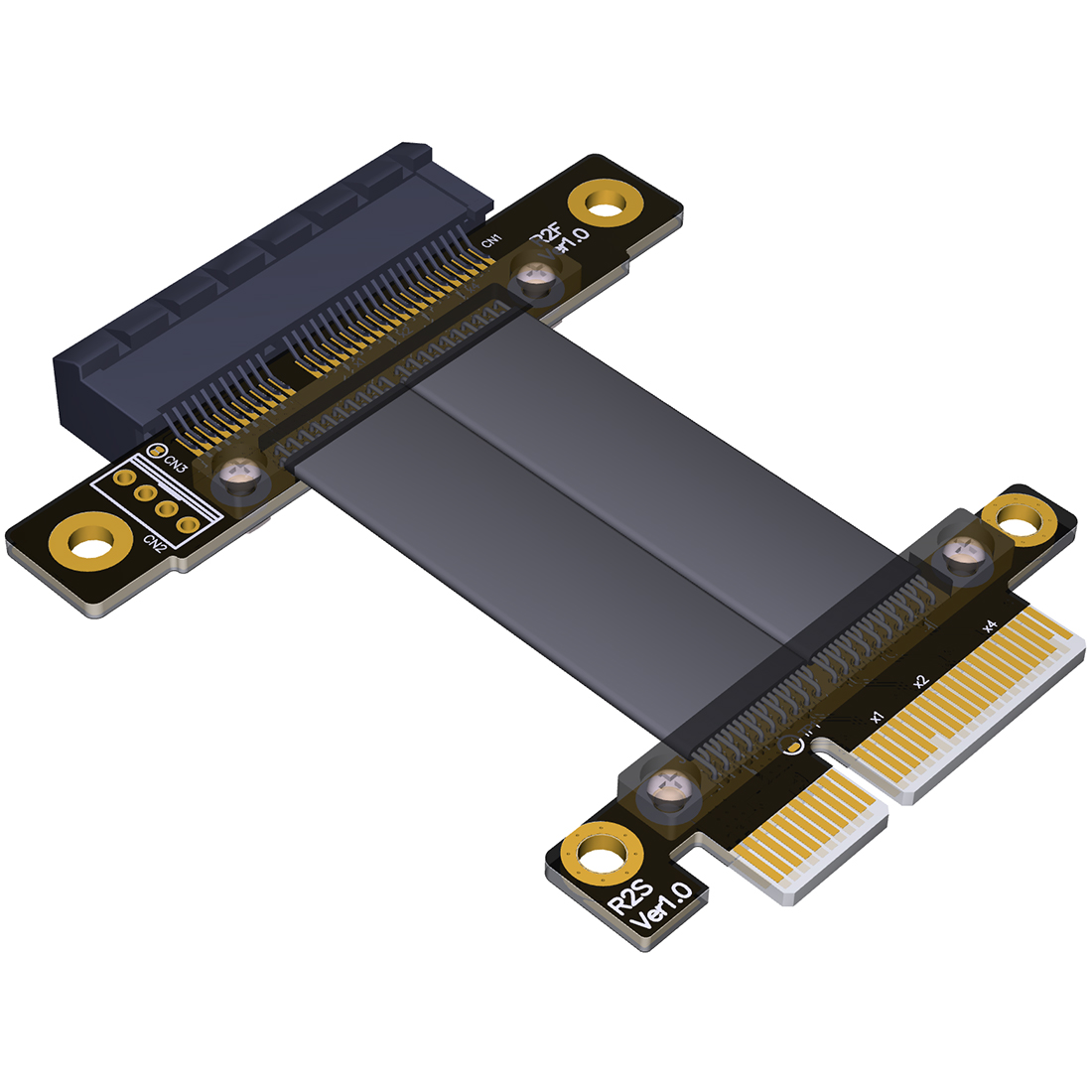 R22SF PCIe 3.0 x4 Male to Female Extension Cable PCI Express Gen3 Motherboard Graphics SSD Extender Conversion Riser Card Cable