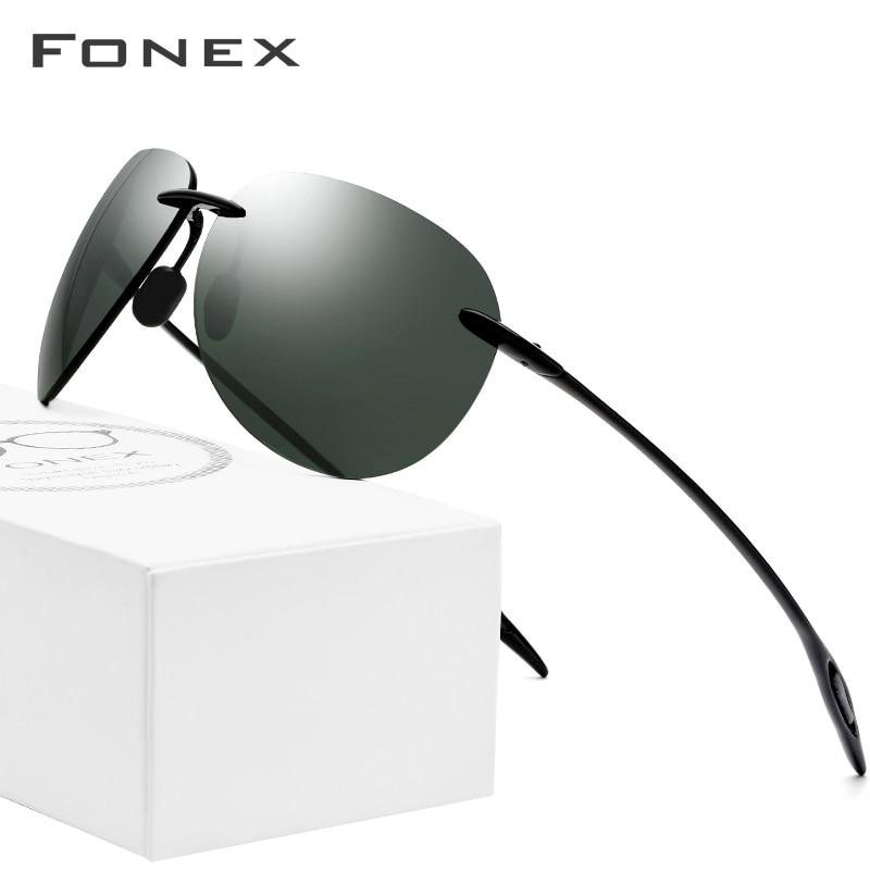 Ultem TR90 lunettes de soleil sans monture hommes ultralégers 2018 mâle de haute qualité Aviador miroir Aviation lunettes de soleil pour femmes lentille en Nylon