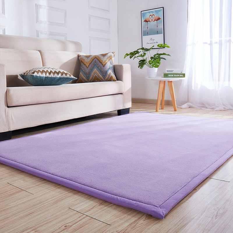 두꺼운 어린이 카펫 일본식 두꺼운 산호 양털 매트 거실 커피 테이블 담요 룸 침대 깔개 홈 새로운 쿠션