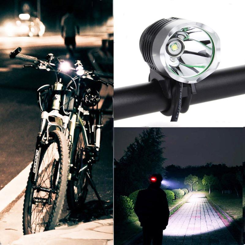 1Pcs Bike Light 1200Lm Lumens 3 Modes LED High Quality Bicycle Light Headlamp With USB Bike Headlight Headlamp LED Flashlight