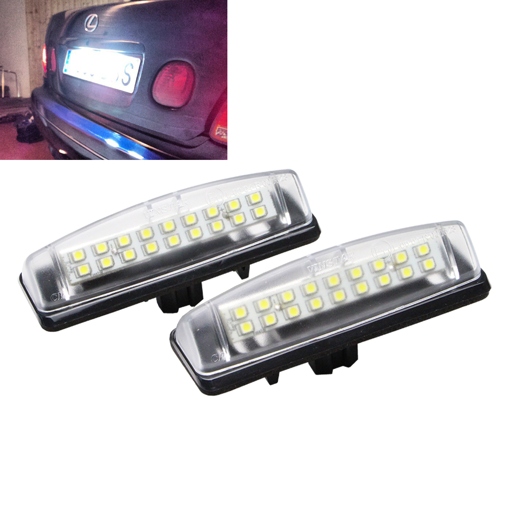 DC 9-16V Waterproof 7W Car license plate light For MITSUBISHI Colt plus Grandis for Lexus IS300 IS200 led tail license light smaart v 7 new license