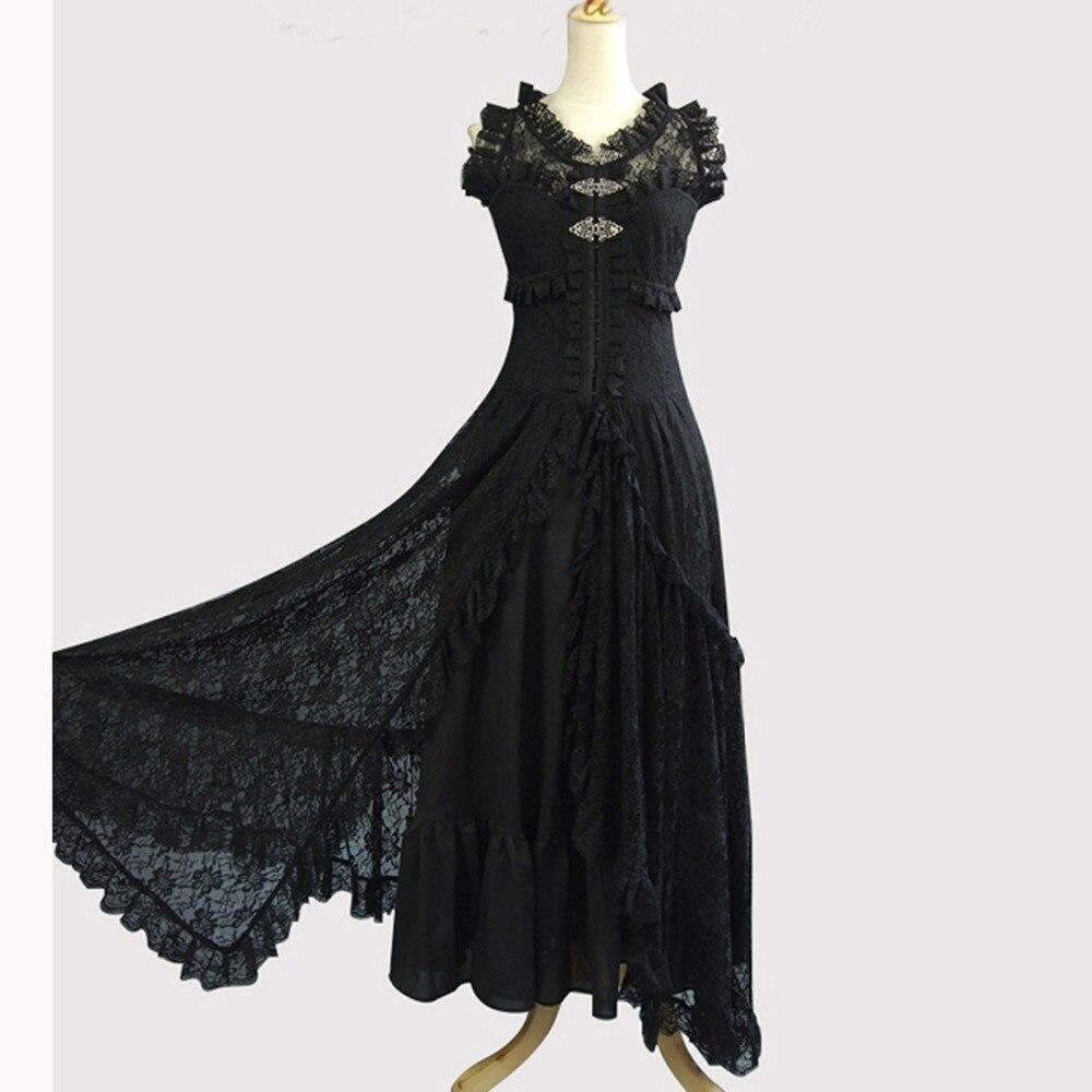 ece49854f7152 Yaz bayan seksi elbiseler parti gece kulübü elbise dantel ofis elbise Kadın  Vintage Gotik kostüm uzun Akşam parti beyaz elbise