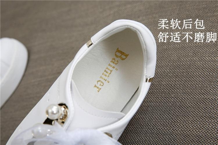2019 Marca Ulzzang Pequenos Sapatos Brancos LadiesGirls