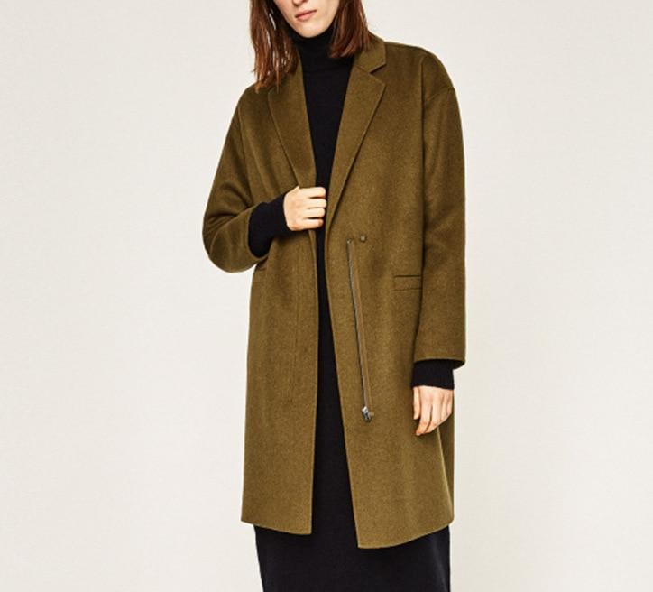 Online Buy Wholesale zip wool coat from China zip wool coat ...