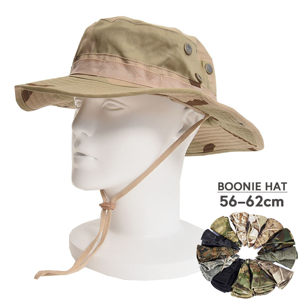 US Army Tactical Boonie Hat Military Men Cotton Camo Cap Paintball Airsoft Sniper Bucket Caps Hunt Fishing Outdoor Hunting Hats