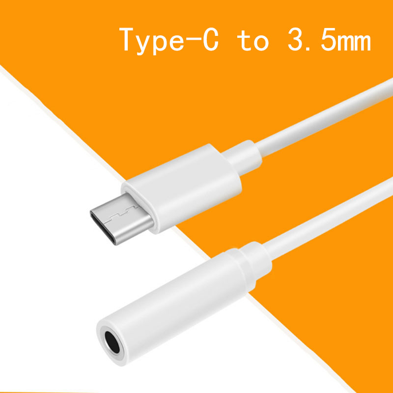 Microphone Earphone Audio Adaptor USB C Type C 3.1 To 3.5mm Stereo Cable Cord For Xiaomi 6 Mi6 Letv 2 Pro 2 Max2