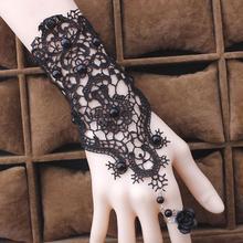 Fashion Jewelry Bracelet Gothic Handmade Black Lace Bracelets&Bangles For Women Vintage Sexy Party Bracelet Gift Y4