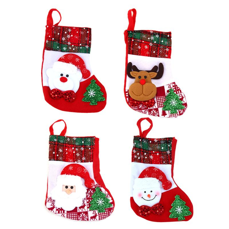 Creative Christmas Stocking Chrismas Decorations for Home Christmas Tree Ornaments Non-woven fabricGift Bags Holders Stockings ...