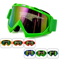 MG-001A-GR Green Reflective Lens Adult Motorcycle goggles Motorbike Cross Country Flexible Glasses