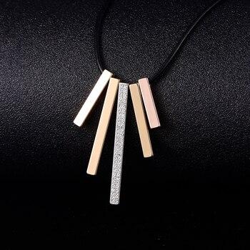 29bd1564d4c6 2019 nueva Declaración collar de la joyería para las mujeres chica  geométrico Simple Bohemia collar de cuero genuino collares de cadena de  perlas