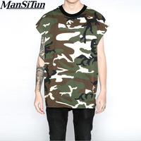 Newest Summer Streetwear Hip Hop Rock T Shirts Swag Harajuku Skate Summer Tops Vest Fitness Army