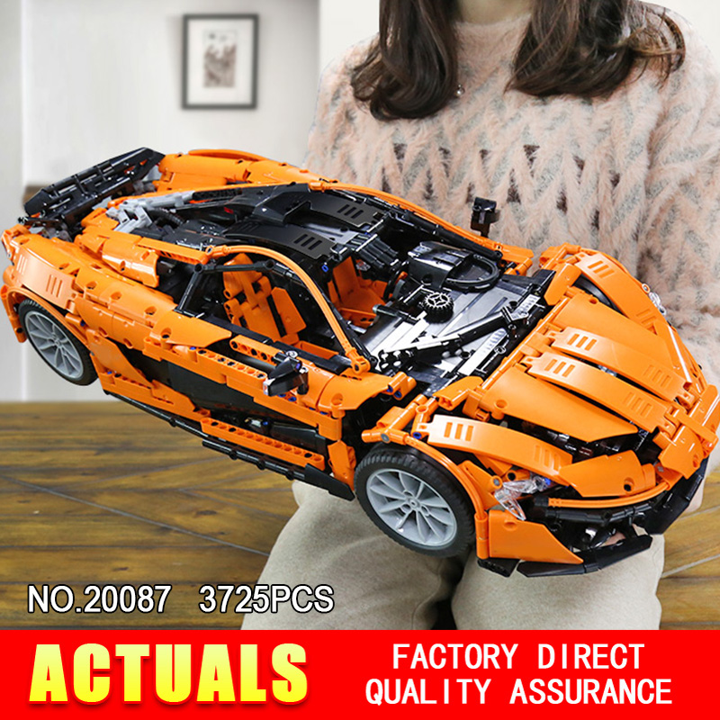 DHL Lepin 20087 Technic Spielzeug Die MOC-16915 Orange Super Racing Auto Set Bausteine Ziegel Pädagogisches Spielzeug DIY Geburtstag Geschenk