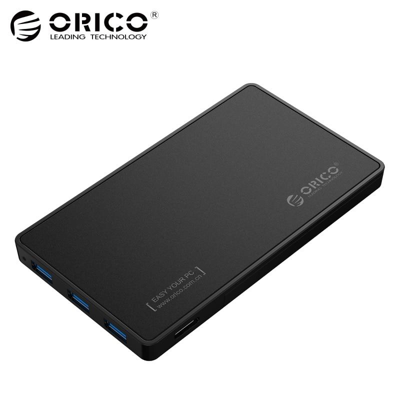 2.5 Hdd ORICO USB 3.0 Disque Dur Cas avec 3 Ports USB3.0 HUB Outil Livraison Conception Pilote Pas Nécessaire