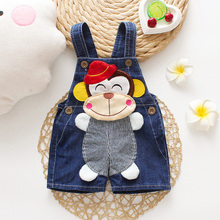 DIIMUU New Fashion Baby Boys Girls Cartoons Overalls Toddler Kids Clothing Casual Cute Shorts Pants Denim For 1-3 Years