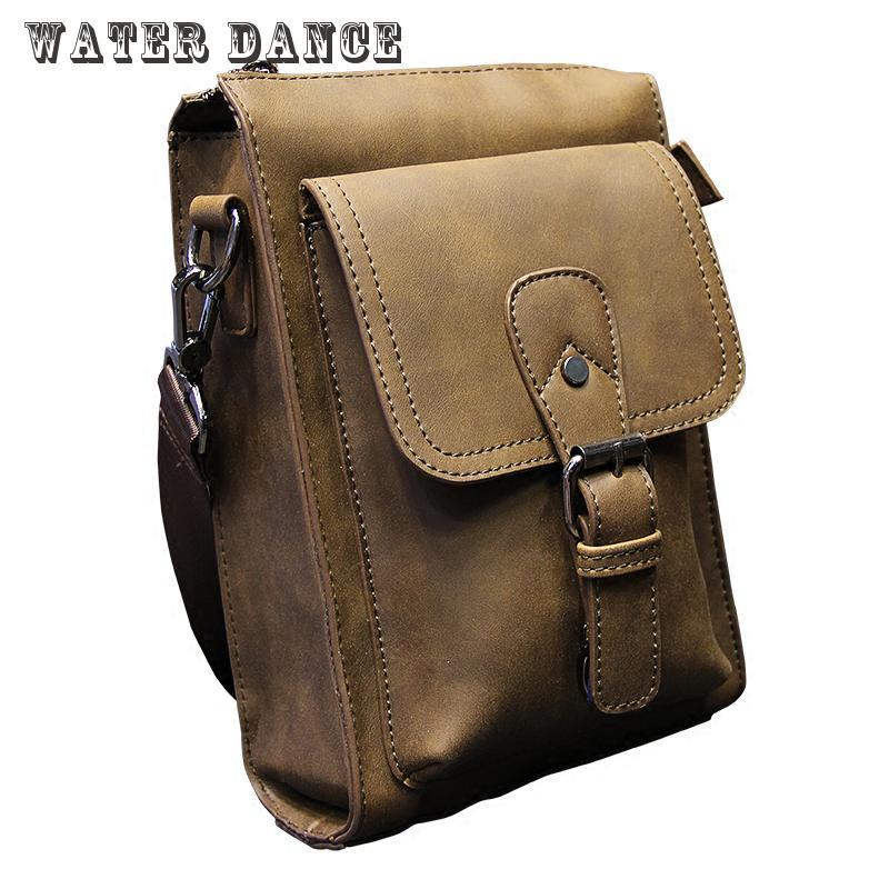 Crazy Horse Leather Men s Leisure Bag Leather Purse Feature Phones Package Man Packet The Packet