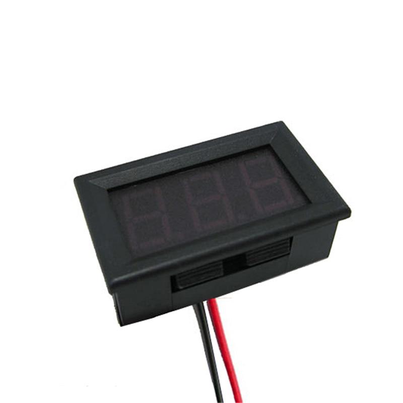 Mini Dwa przewody Woltomierz cyfrowy Czerwony wyświetlacz LED - Przyrządy pomiarowe - Zdjęcie 6