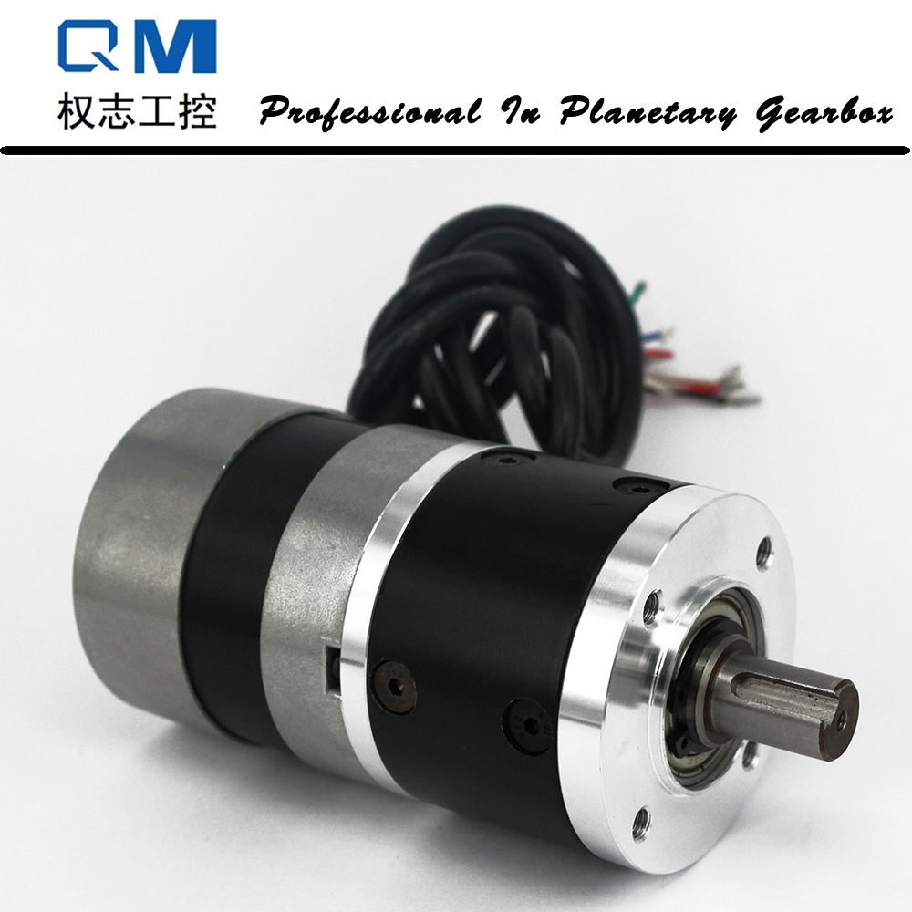 Gear dc motor planetary reduction gearbox ratio 5:1 nema 23 60W 24V brushless dc motor 24v 52 5w 5 8 n m 70rpm 42mm brushless dc motor square brushless dc motor with planetary gearbox reduction ratio 56 5