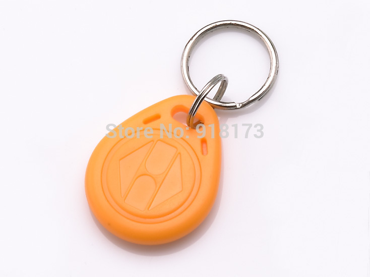 100pcs/lot 125Khz RFID Proximity tag Keyfob token Access Control Rfid key fob yellow rfid key fob 13 56mhz proximity abs ic tags fm1108 1k tag door lock access controller token