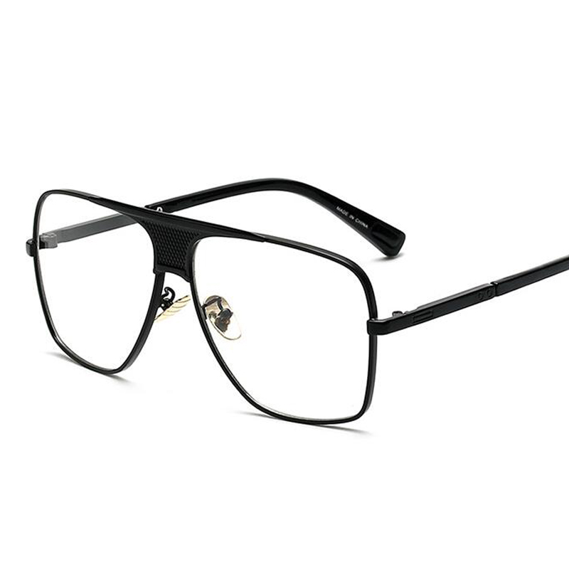 b5c66acdcb Pop Age New Clear lens glasses Men Metal Oversized Square Frame Vintage  Spectacles Brand Designer Eyeglasses Oculos Gafas-in Sunglasses from  Apparel ...