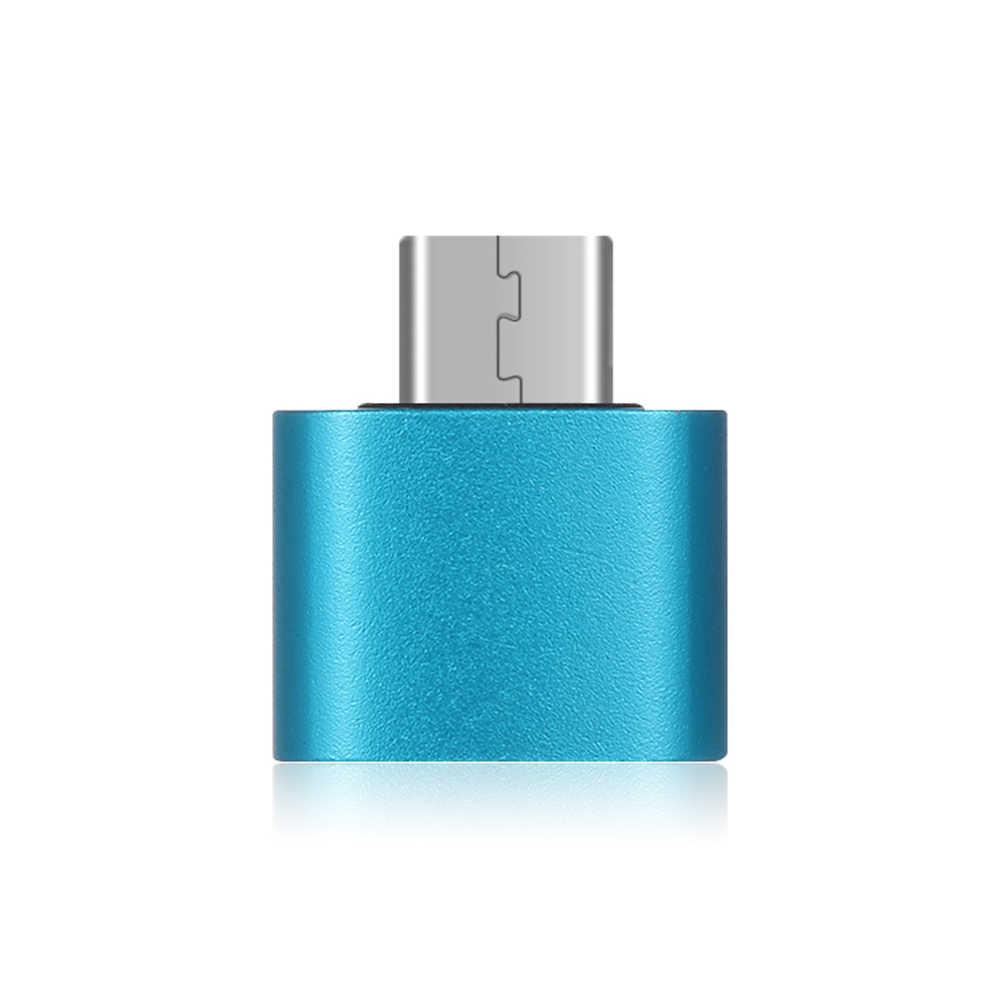 Nowy Mini metalowy męski na żeński USB-C 3.1 typ C na USB 3.0 konwerter otg adapter do androida smartfony typ C adapter otg