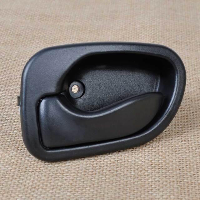DWCX New Black Smooth Interior Left Door Handle Replacement