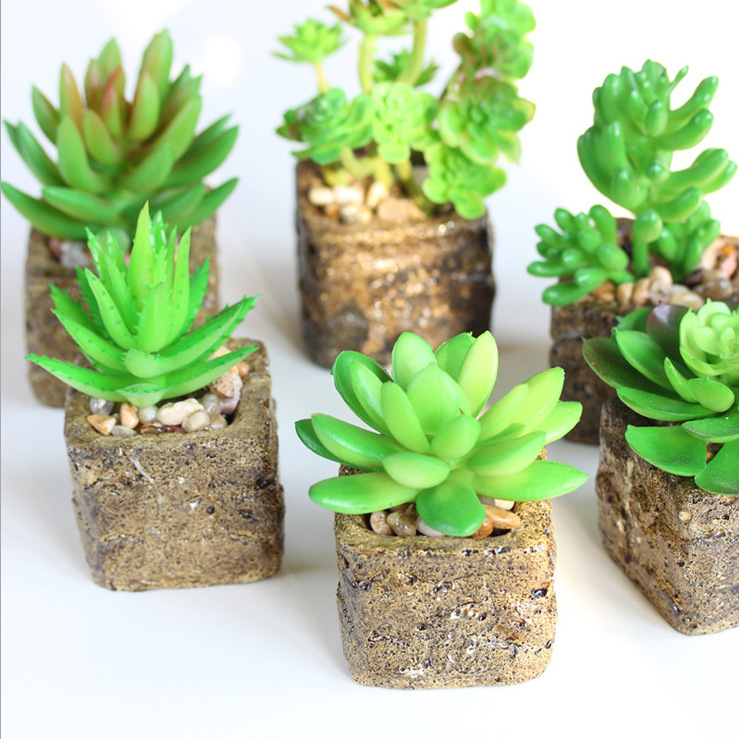 Free Shipping! Floral Arrangement Artificial Succulent Plant Pot ...