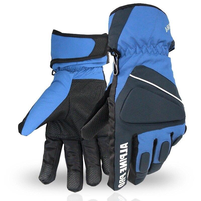 Súper cálidos guantes de esquí de motos de nieve moto impermeable guantes cortav