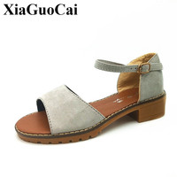 Summer Women Sandals Gladiator Style Ankle Strap Open Toe Low Heels Flats Sandals Comfortable Non Slip