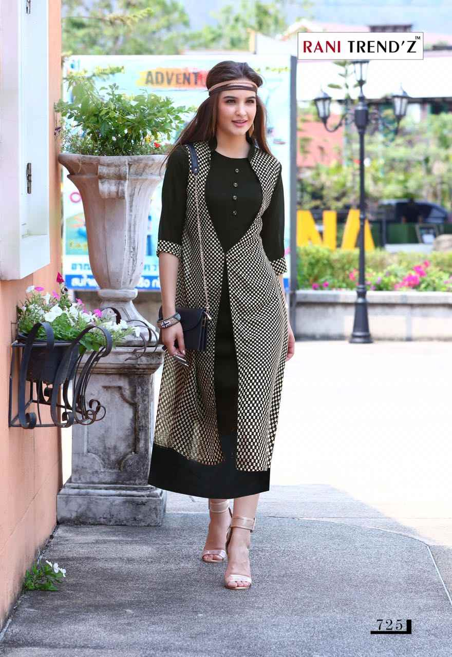 50acd408c7 RANI TREND'Z Indian Pakistan Bollywood Designer Stylish Tunic Women Faux  georgette Kurti Kurta Printed