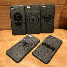Marvel Avengers Captain America Shield Superhero สำหรับ iPhone 11 pro 8 7 6 6S Plus X Xs Max xr ยาง Ironman capinhas ฝาครอบ(China)
