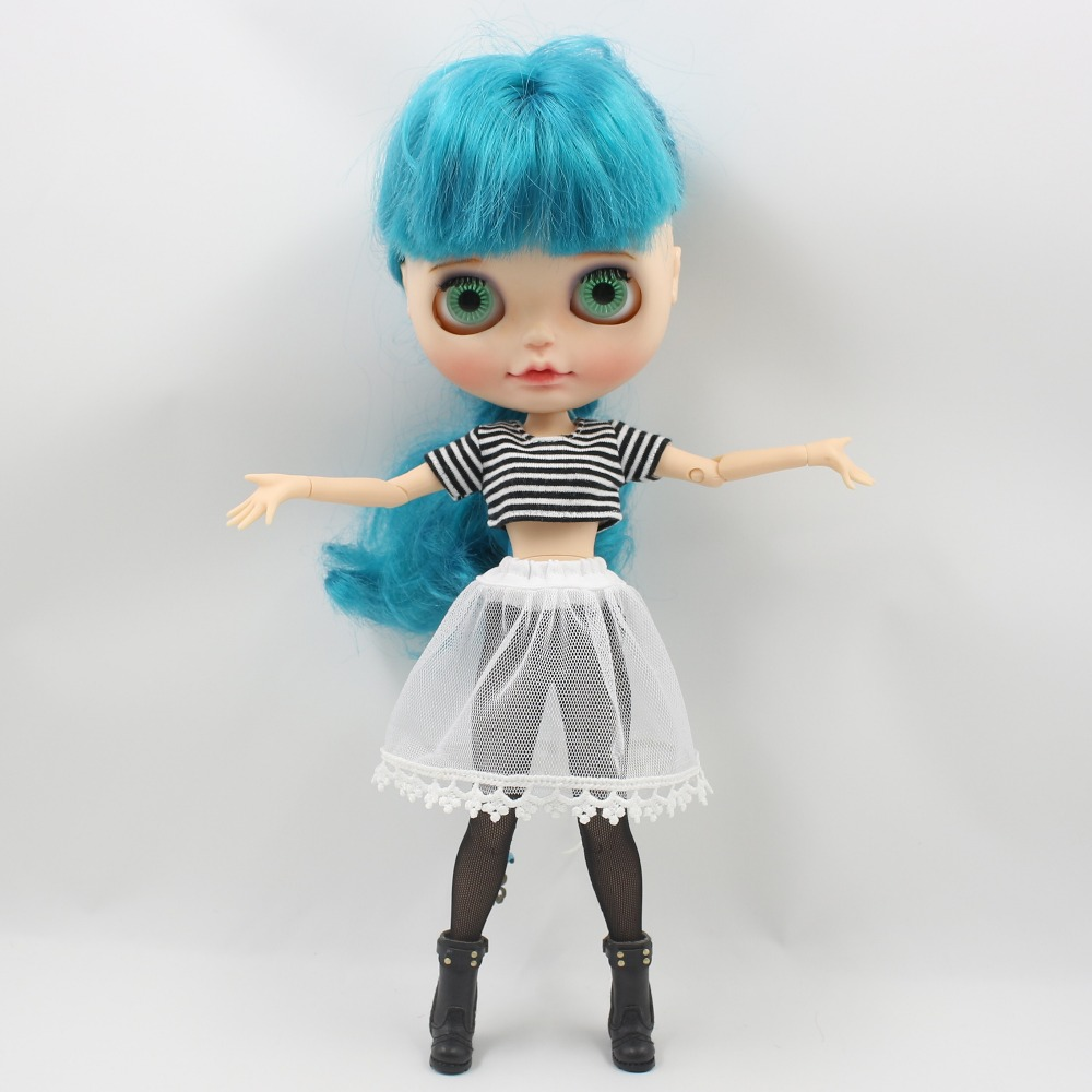 Neo Blythe Doll Crop Shirt with Leggings Underwear & Lace Skirt 1