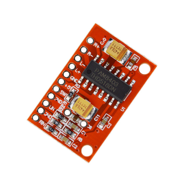 US $0 6  3W*2 Mini Digital Power Audio Amplifier Board DIY Stereo USB DC 5V  Power Supply PAM8403 for Arduino-in Integrated Circuits from Electronic